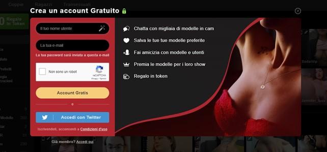 Ragazze in Webcam Gratis Sito sicuro